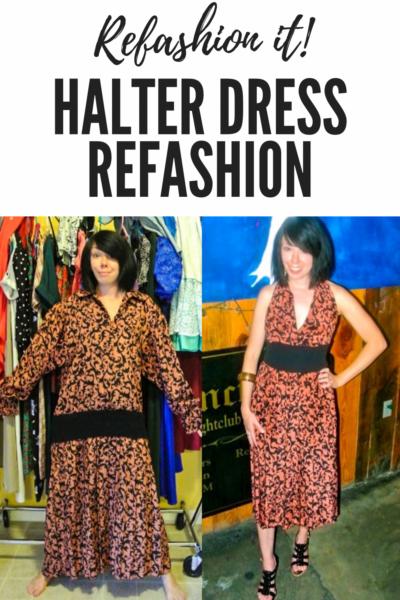 refashionista Halter Dress Refashion with Vintage Flair pin 3