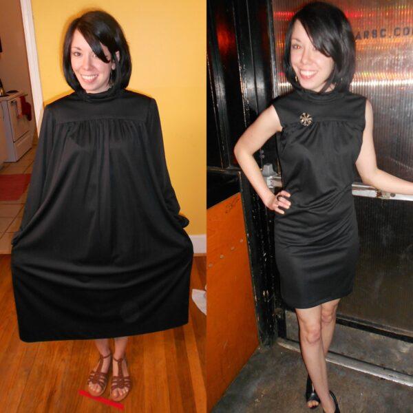 little black dress refashion pin 6