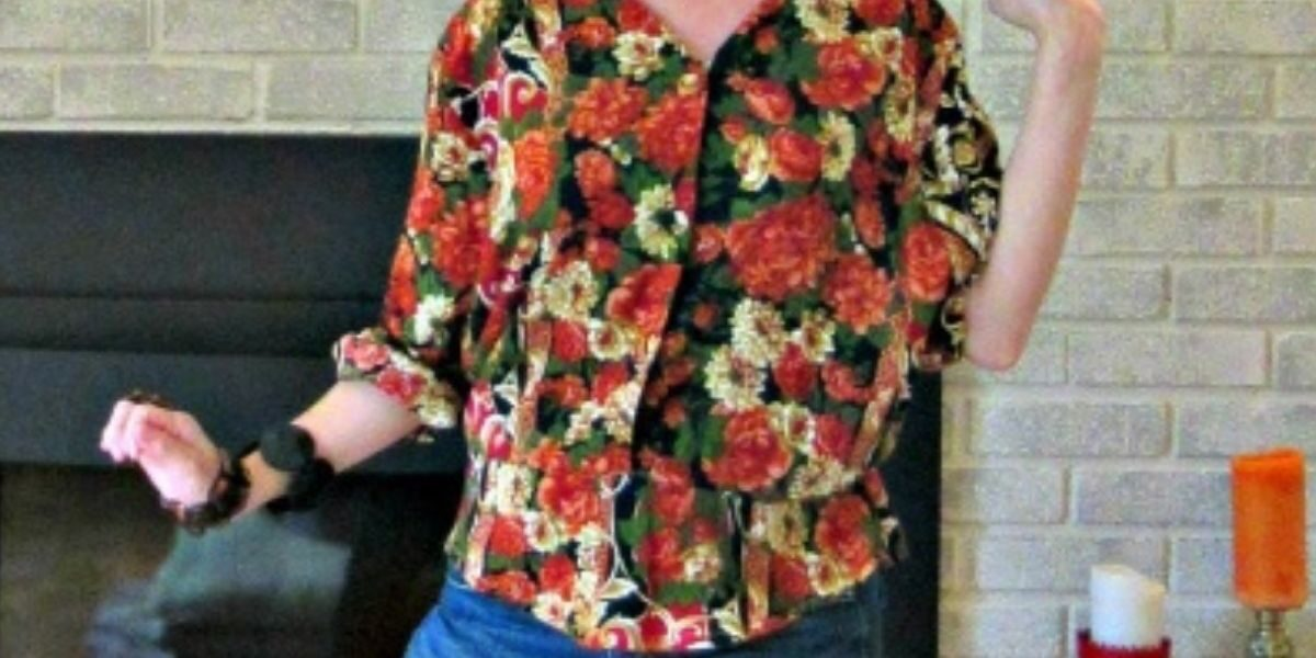 Refashionista Fall Floral Dress to Shirt Refashion featured image