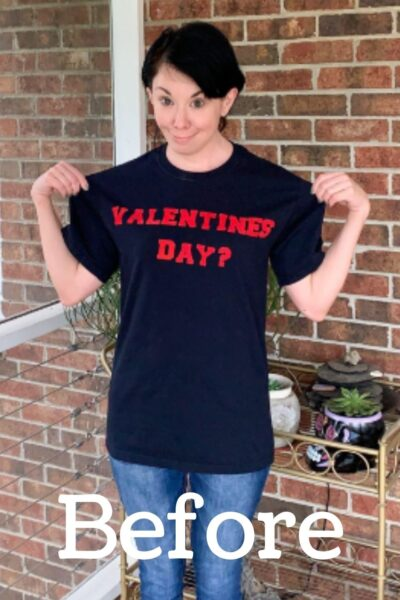 Valentine's Day Shirt Refashion Pin 3