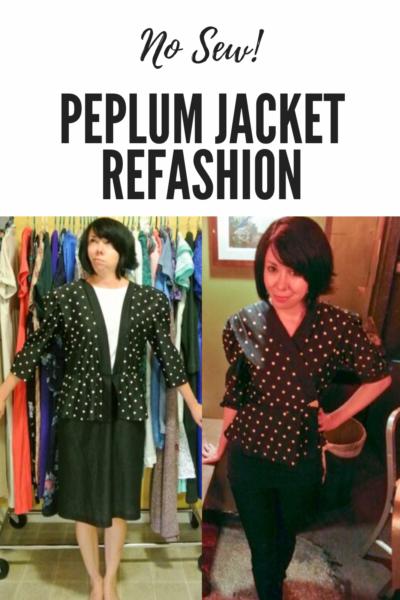 No Sew Peplum Jacket Pin 3