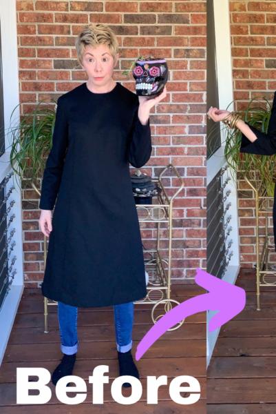 Slit Bottom Sleeve Dress Refashion Pin 4