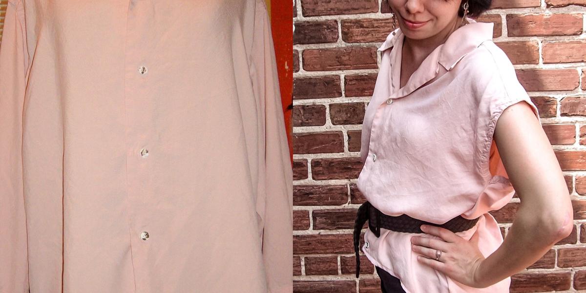 refashionista Oversized Button Down Shirt Refashion featured image