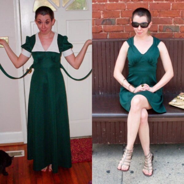 green with envy dress refashion pin 4