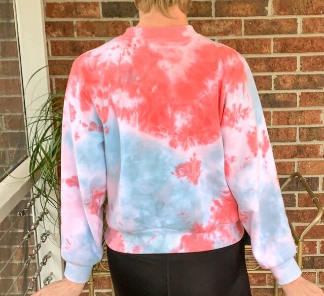 Crumple Tie Dye Technique: Sweatshirt Edition after back view
