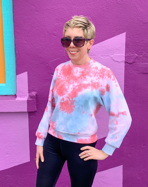 Crumple Tie Dye Technique: Sweatshirt Edition after