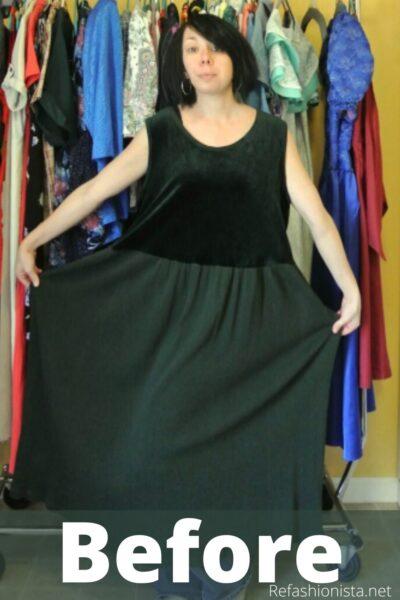 refashionista Trace & Stitch Dress Refashion pin 6