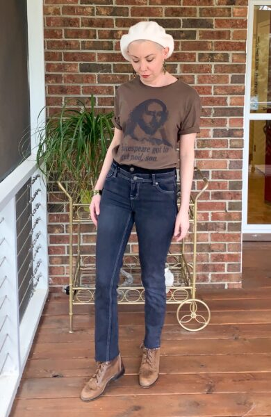 diy high waisted jeans after