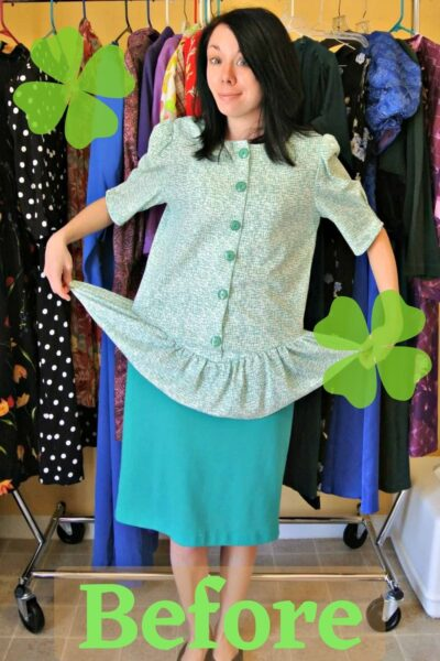 refashionista how to remove a peplum from a dress pin 3