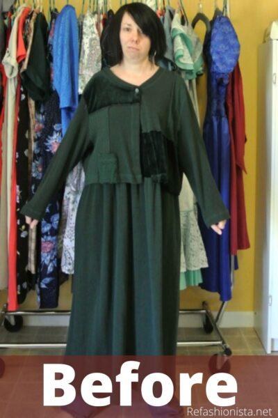 refashionista Trace & Stitch Dress Refashion pin 5
