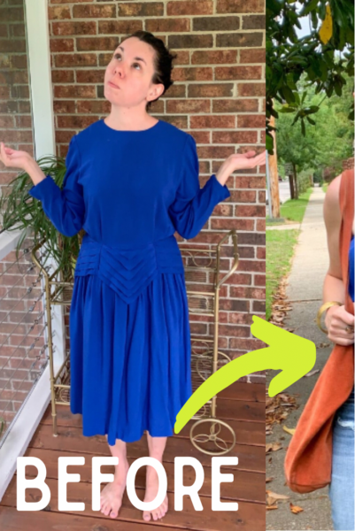 Art Deco-ish Dress to Strapless Top Refashion pin 5