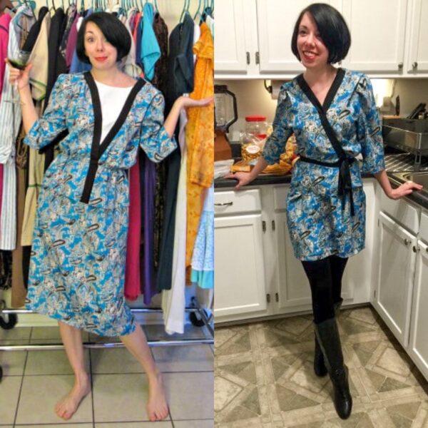 Kimono Dress Refashion pin 3