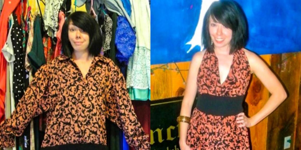refashionista refashionista Halter Dress Refashion with Vintage Flair featured image