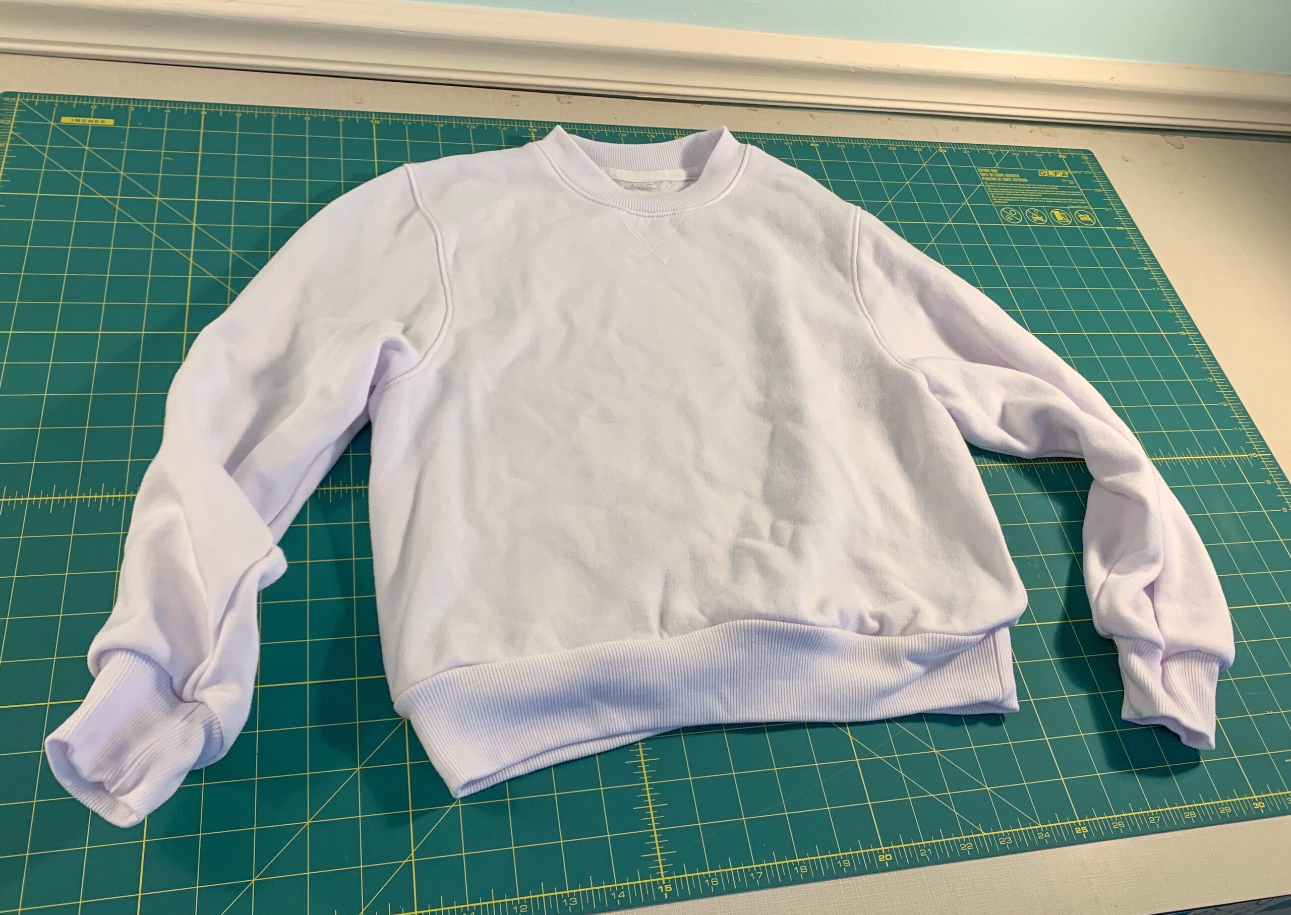plain white sweatshirt