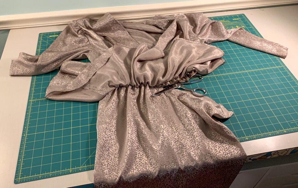 cutting off skirt from dress