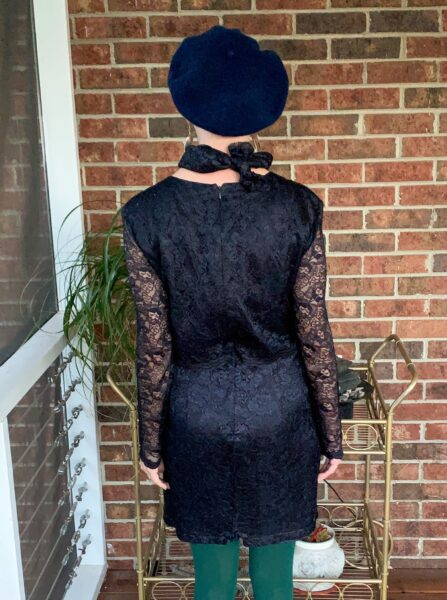 refashionista mother of the bride dress upcycle back view