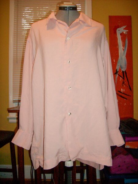 Oversized Button Down Shirt Refashion before