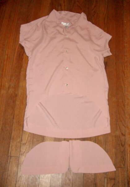 cutting off bottom of shirt