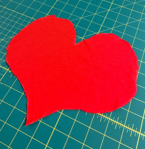 Cut out heart from t-shirt