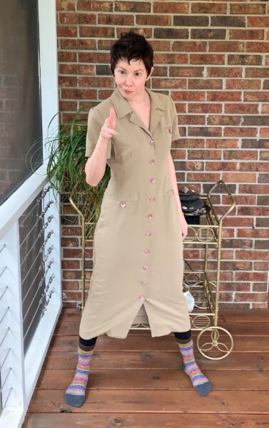 Refashionista Dress to Cape Jacket Refashion pin 1