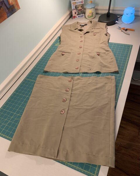 cutting bottom off dress