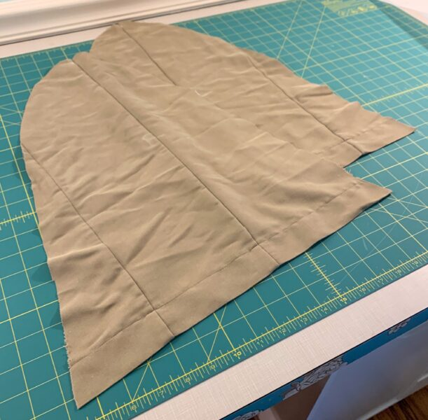 cut out cape sleeve pieces