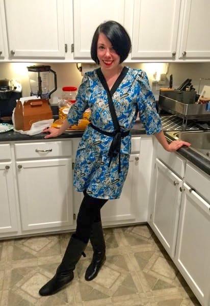 Kimono Dress Refashion after