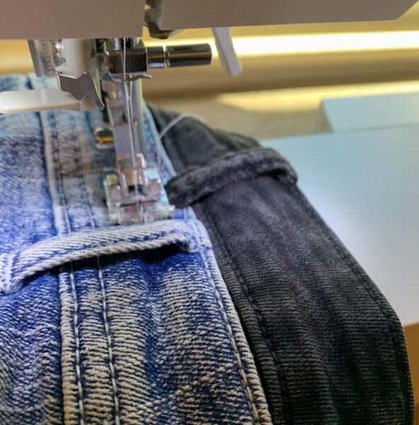 sewing down belt loop