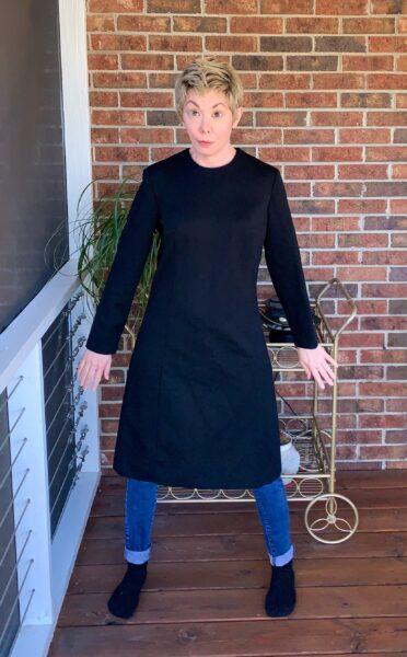 Slit Bottom Sleeve Dress Refashion Pin 5