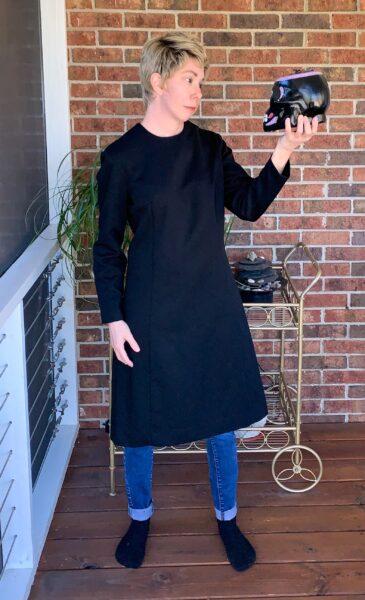 Refashionista Slit Bottom Sleeve Dress Refashion Before 2