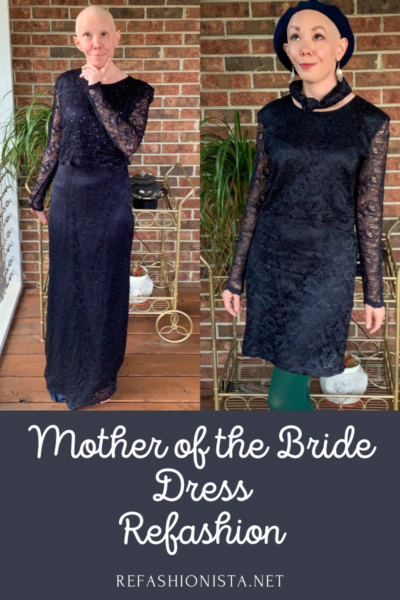 mother of the bride dress upcycle pin 3