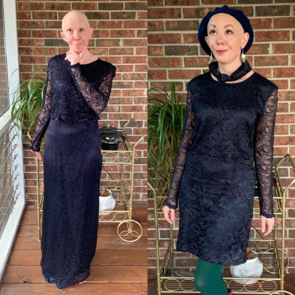 mother of the bride dress upcycle pin 5