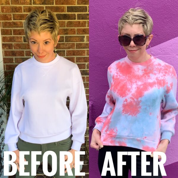 Refashionista Crumple Tie Dye Technique Before and After