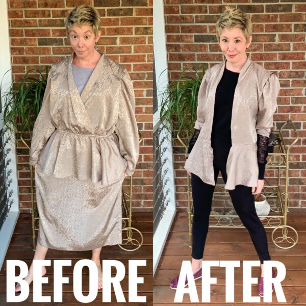 Refashionista DIY Ath-Flow Coverup Refashion Before and After