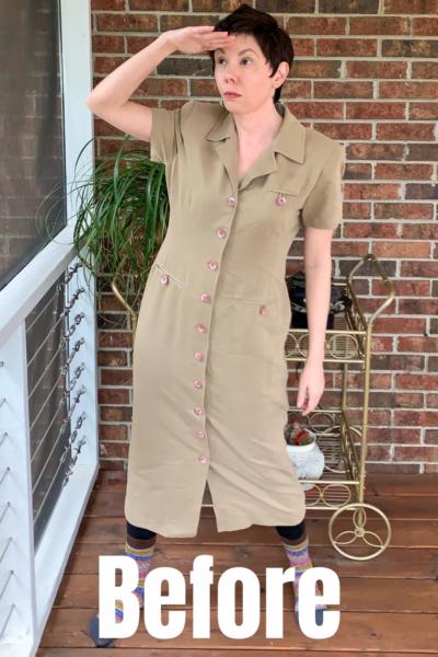 Refashionista Dress to Cape Jacket Refashion pin 2