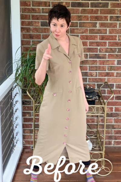 Refashionista Dress to Cape Jacket Refashion pin 3