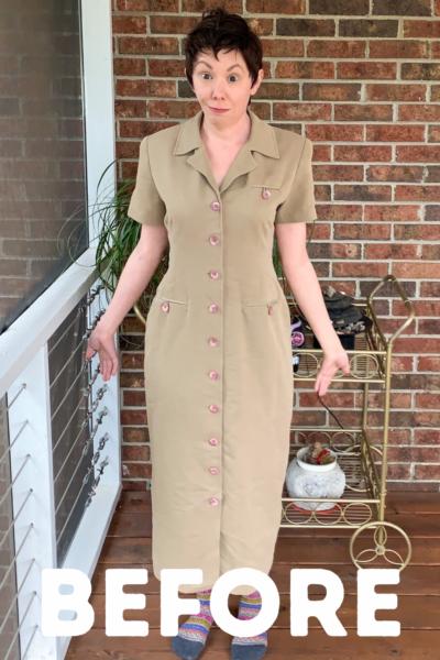 Refashionista Dress to Cape Jacket Refashion pin 4