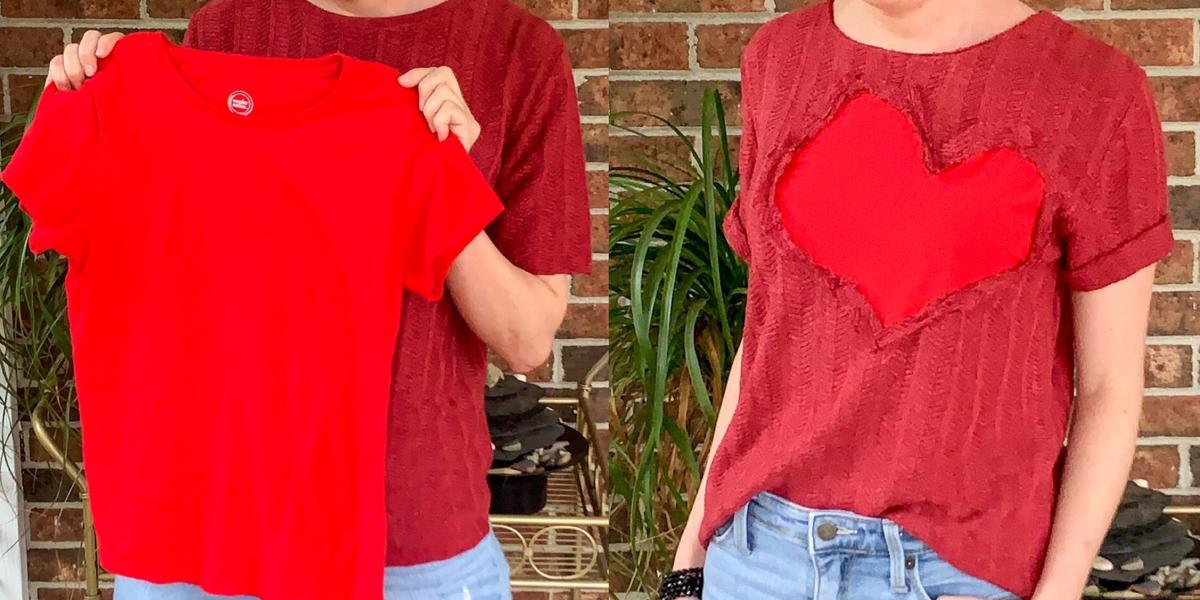 refashionista Reverse Appliqué Heart Sweater featured image