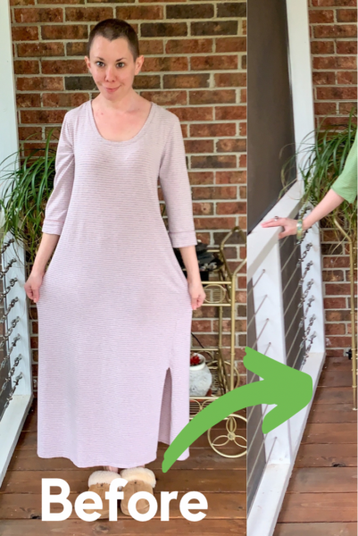 Going for Green: No-Sew Nightgown to Dress Refashion pin 2