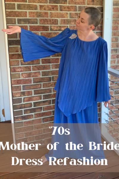 '70s Fortuny Style Mother of the Bride Dress Refashion Pin 10