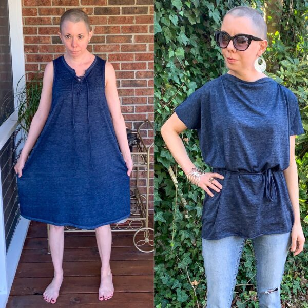 DIY Tunic Top from Sleeveless Jersey Midi Dress Pin 6