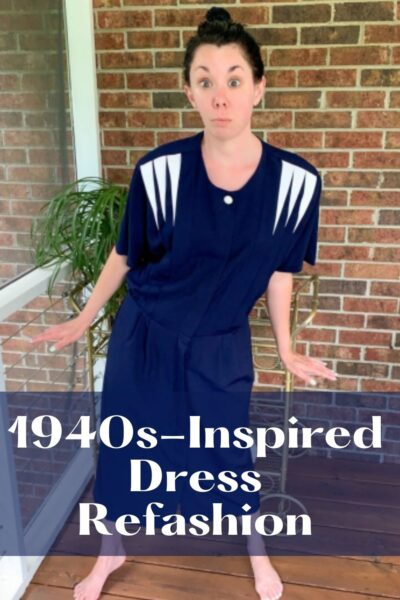 1940s-Inspired Dress Refashion pin 5