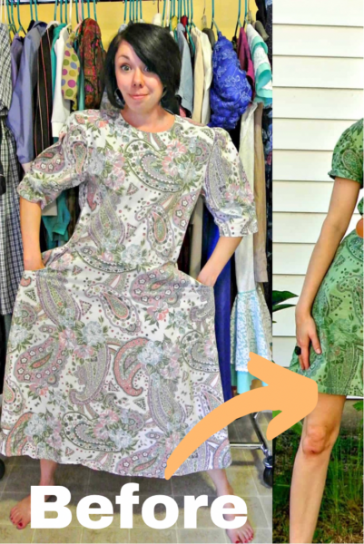 refashionista Basil Dress: Dyeing Over a Printed Fabric pin 4