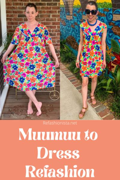 How to make a muumuu into a dress pin 3