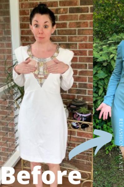 Keeping it Classy: A Cut Out Dress Refashion pin 2