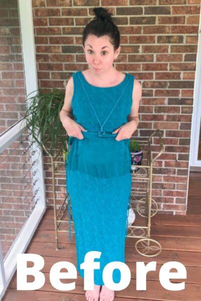 Flip It! Upside-Down Dress Refashion pin 7