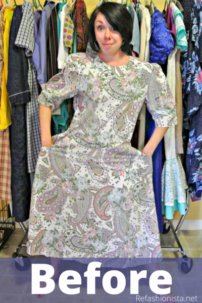 refashionista Basil Dress: Dyeing Over a Printed Fabric pin 2