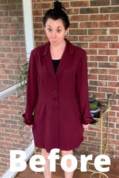 Dress to Blazer Refashion for Boss Babes Pin 1