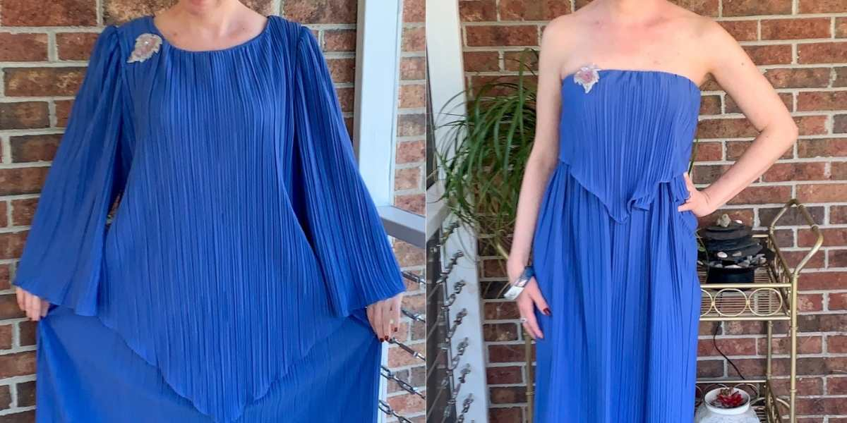 '70s Fortuny Style Mother of the Bride Dress Refashion featured image