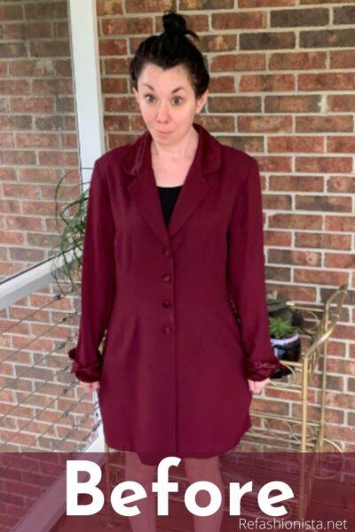 Dress to Blazer Refashion for Boss Babes Pin 3